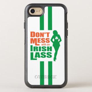 Funny Irish Lass Slogan OtterBox Symmetry iPhone 8/7 Case