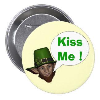 Funny Irish leprechaun Pin
