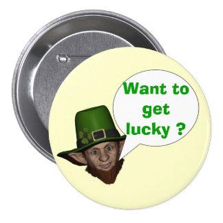 Funny Irish leprechaun Button