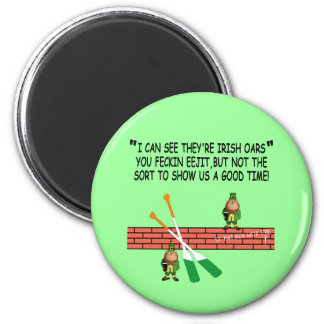Funny Irish leprechauns 6 Cm Round Magnet