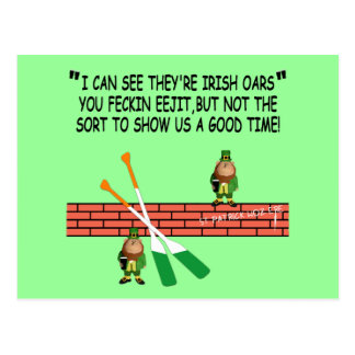 Funny Irish leprechauns Postcard