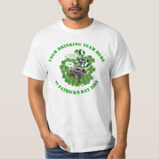 Funny Irish meerkat St Patrick's day drinking team T-Shirt