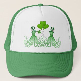 Funny Irish octopi St Patrick's day Trucker Hat