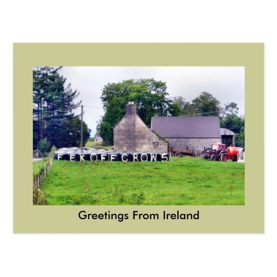 Funny Irish Scarecrow Postcard