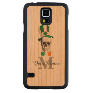 Funny Irish skull monogrammed Carved Cherry Galaxy S5 Case