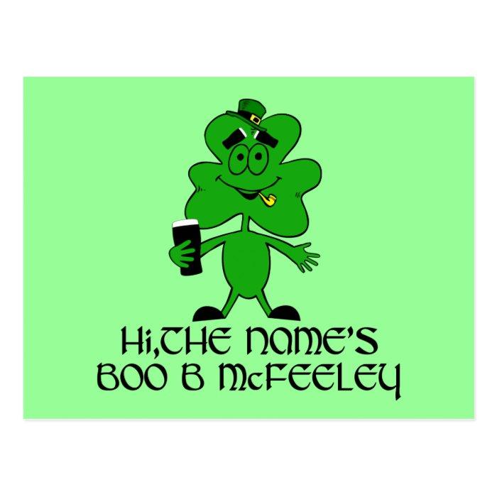 Funny Irish slogan Postcard