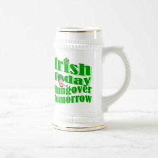 Funny Irish St Patrick's day Beer Stein