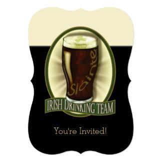"""Funny Irish Stout Personalized Invitation 5"""" X 7"""" Invitation Card"""
