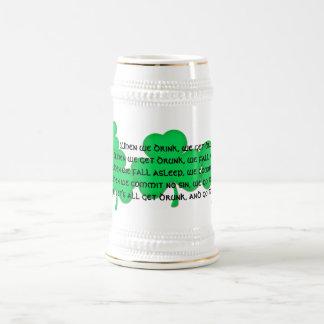 Funny Irish Toast #1 (shamrocks) Coffee Mug