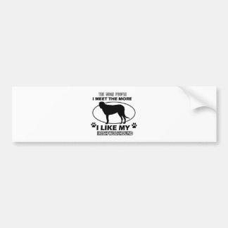 Funny irish wolfhound designs bumper sticker