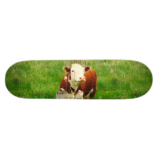 Funny Ironic Cow 4André Custom Skateboard