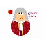 Funny Isaac Newton Postcard