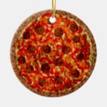 Funny Italian American Pizza Christmas Ornament