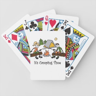 Funny It's Camping Time Outdoor Sport Bicycle Playing Cards