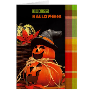 Funny Jack O'Lantern Halloween Greeting Cards