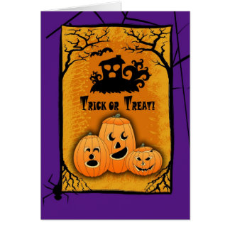 Funny Jack O'Lanterns Halloween Greeting Cards