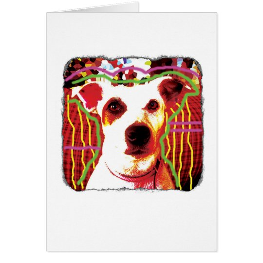 Funny Jack Russell Pop Art card for many