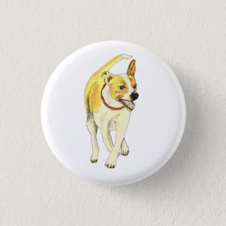 Funny Jack Russell Terrier dog novelty art badge