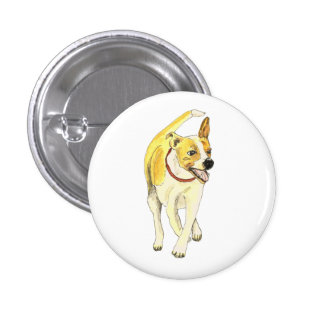 Funny Jack Russell Terrier dog novelty art badge