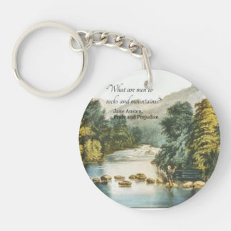 Funny Jane Austen Quote preferring Nature to Men Key Ring