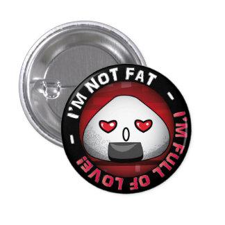 Funny japanese riceball 3 cm round badge