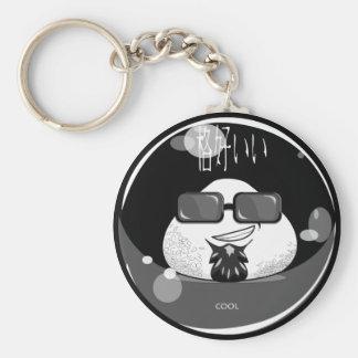 Funny Japanese Riceball Basic Round Button Key Ring