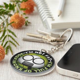 Funny japanese riceball Double-Sided round acrylic key ring