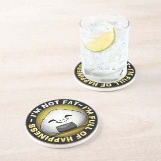 Funny japanese riceball drink coaster