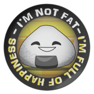 Funny japanese riceball party plate