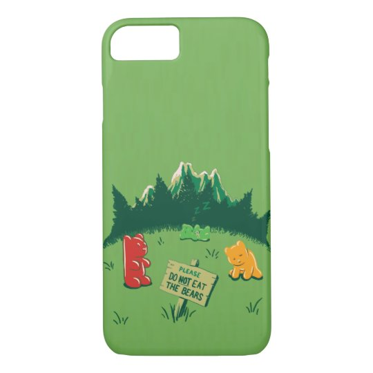 Funny Jelly Bears at Mountains iPhone 8/7 Case