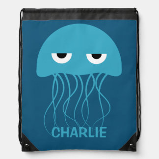 Funny Jellyfish custom backpack