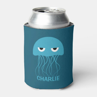 Funny Jellyfish custom can cooler