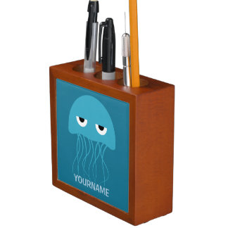 Funny Jellyfish custom desk organizer