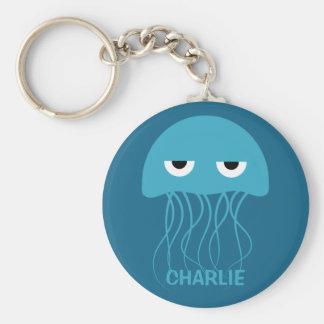 Funny Jellyfish custom key chains