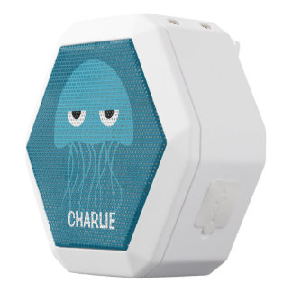 Funny Jellyfish custom monogram bluetooth speaker