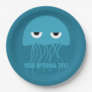 Funny Jellyfish custom paper plates