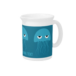 Funny Jellyfish custom pitcher