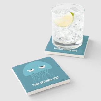 Funny Jellyfish custom stone coaster
