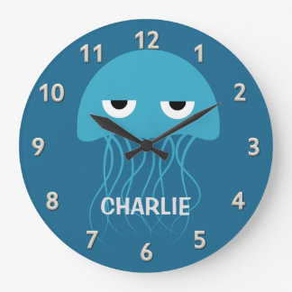 Funny Jellyfish custom wall clock
