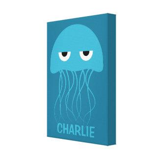 Funny Jellyfish custom wrapped canvas print