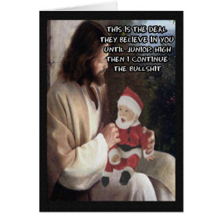 Funny Jesus and Santa Greeting Card