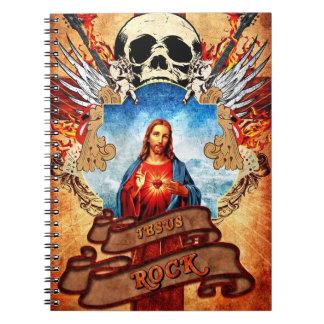 Funny Jesus rock Notebook