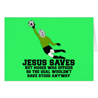 Funny Jesus saves Card