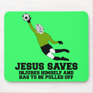 Funny Jesus saves Mouse Pad