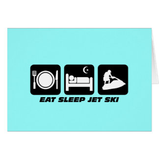 Funny jet ski greeting card