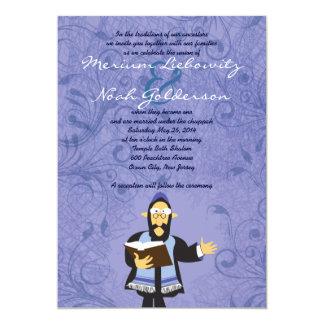 Funny Jewish Rabbi Wedding Invitation