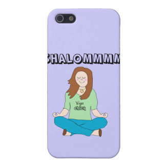 Funny Jewish Yoga Chick Shalommm Case For The iPhone 5