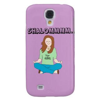 Funny Jewish Yoga Chick Shalommm Galaxy S4 Case