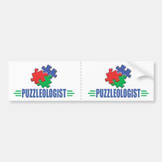 Funny Jigsaw Puzzle Bumper Sticker