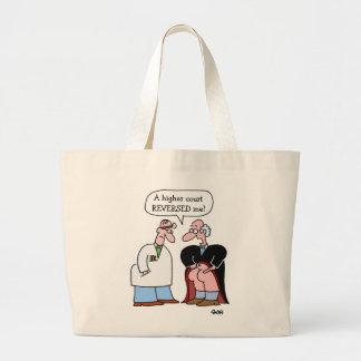Funny Judge Cartoon Lawyer Large Tote Bag